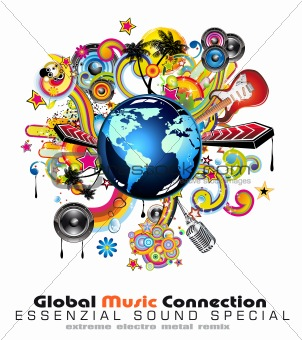 Abstract Globe Background For Disco Flyers