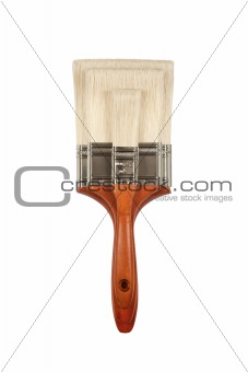 Three Different Sized Paint Brushes Isolated on White with Clipping Path.