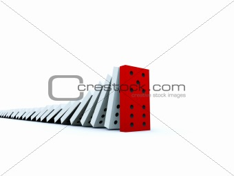 Bricks of domino