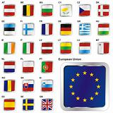 UE flags in web buttons shape
