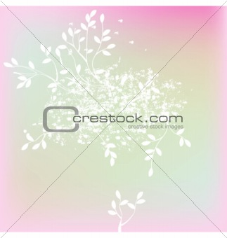 Background with tree branches