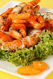 Surimi salad with kumquat