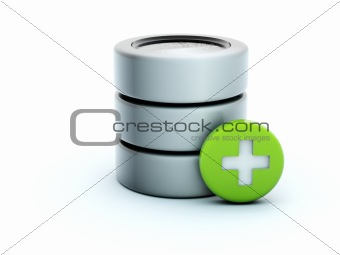 3d add storage icon