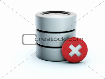 3d destroy storage icon
