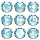 Set Music Gloss Button