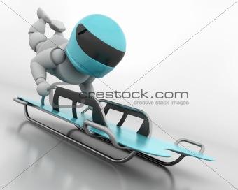 skeleton bobsleigh