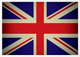 aged british flag