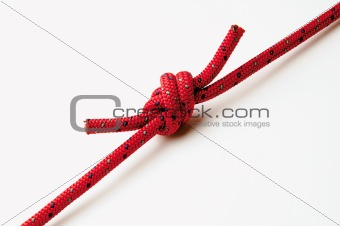 A knot on red rope