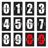 number clock counter black