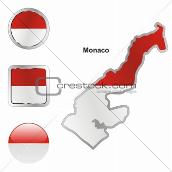 monaco in map and web buttons shapes