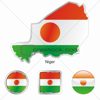 niger in map and web buttons shapes