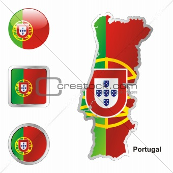 portugal in map and web buttons shapes