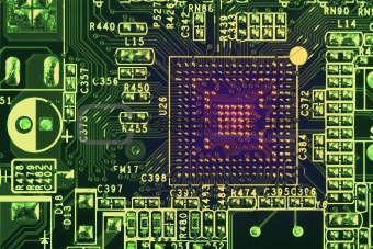 Abstract electronical industrial circuit board background