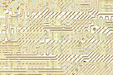 Abstract circuit board golden texture