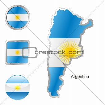 argentina in map and web buttons shapes