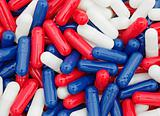 multi-colored capsules