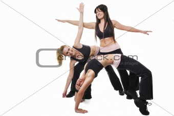 woman fitness group