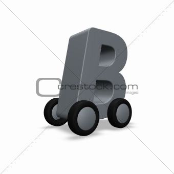 letter b on wheels