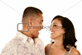 Attractive Hispanic Couple