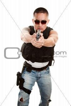 Tough Latino Cop