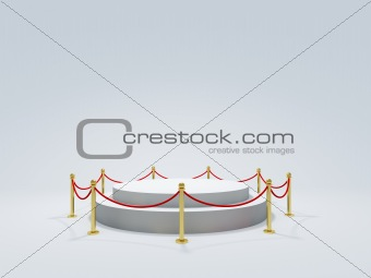 Podium with barrier
