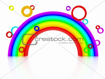 3d rainbow with circles