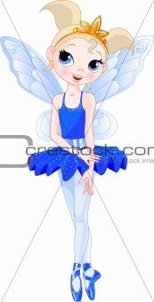 (Rainbow colors ballerinas series). indigo  Ballerina