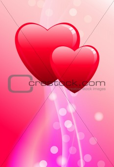 Abstract Valentine's Day Background Original Vector Illustration