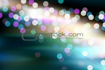 Abstract glowing defocused lights