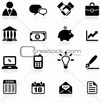 business and communication icon set