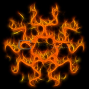 Abstract of mystery pentagram-symbol