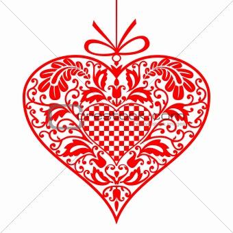 Valentine ornamental heart