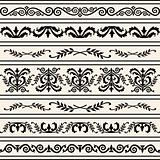 Set of floral vector borders