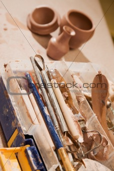 Tools for shaping clay