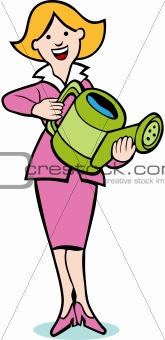 Watering Can Woman