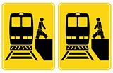 Train station signs - arrival and departure