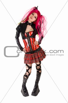 Attractive punk girl