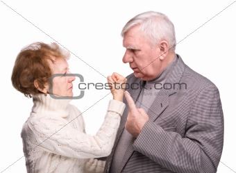 Conflict elderly couple