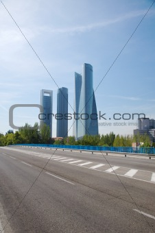 asphalt and skyscrapers
