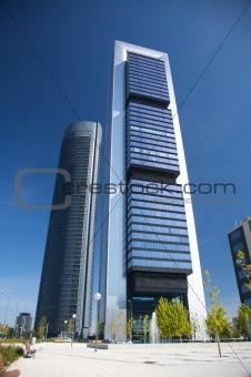 business area skyscrapers