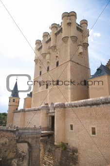 central front tower of segovia castle