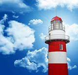 lighthouse and blue sky