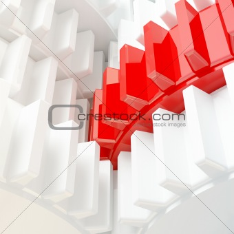 3d illustration of gear closeup