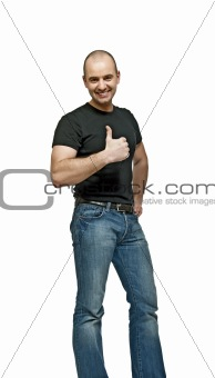 positive man thumb up