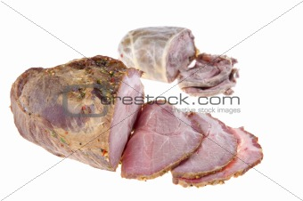 Cutting gammon pork