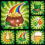 St. Patrick&#39;s Day icon set 1