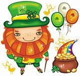 St. Patrick&#39;s Day  leprechaun series 2