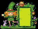 St. Patrick's Day  floral frame
