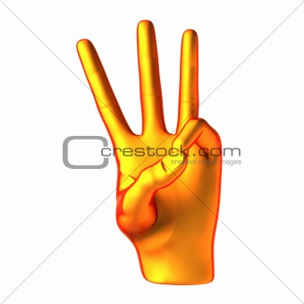 Counting orange hand