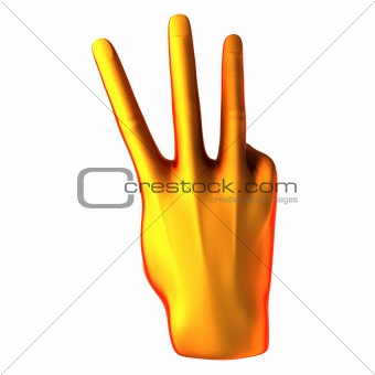 Counting orange hand